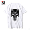 Black Panther t shirt men cartoon cool funny white t shirt print T-shirt men Tees