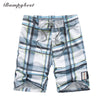men plaid shorts men classic checks board shorts swimwear shorts quick drying summer embroidery letters