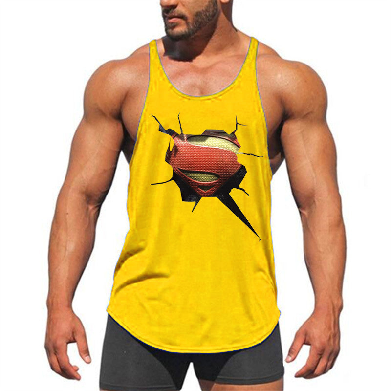 be4729f0c6b11 Fitness Clothing 3 D Superman gyms tank top men bodybuilding stringer  singlets muscle vest Weightlifting Sleeveless