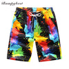 new swimsuit Quick Dry Men Shorts Summer Casual Splash rainbow  Shorts Men's Board Beach women Shorts