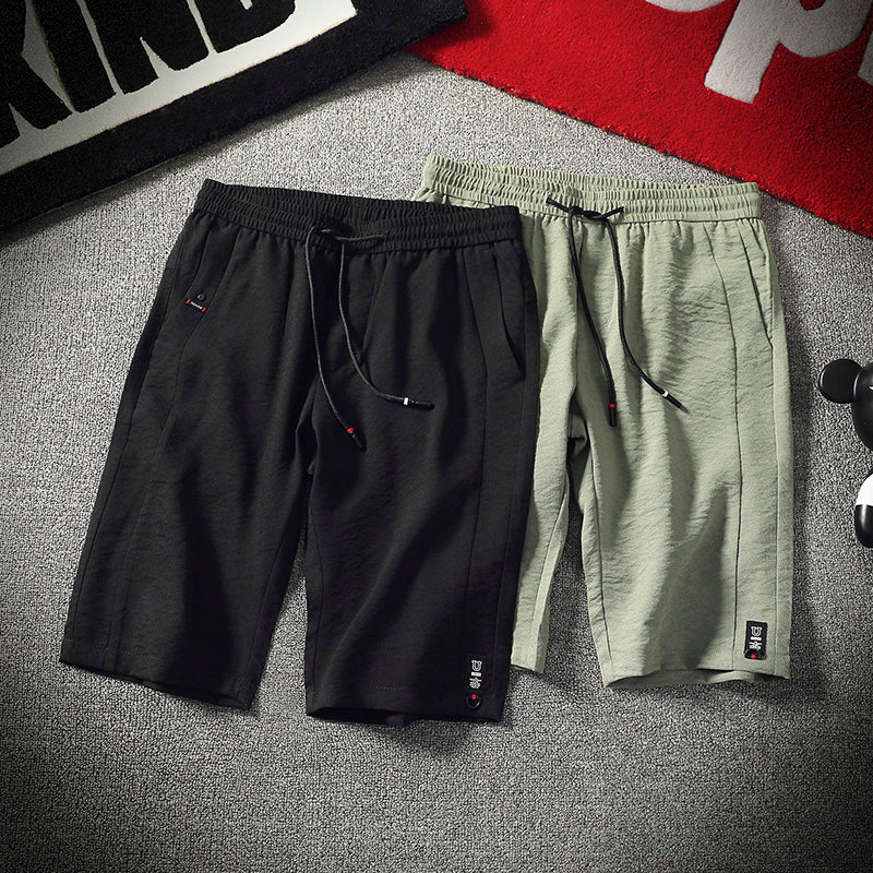 Summer Men/'s Casual Cotton Shorts Slim Fit Solid Beach Sport Shorts Pants New