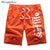 Summer Style Beach Shorts Casual Clothing 100% Polyester Letter Soft Short Male