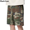 Camouflage Elastic Waist Men's Shorts Summer High Street Terry Material Como Shorts Men Cotton
