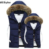 Casual Fur Collar Hooded Winter Men Vest Detachable Cap