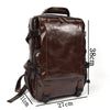Casual Leather Backpack Men Large Capacity Genuine Leather Daypacks For Travel School Bag Cowhide Waterproof  Rucksack