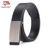100% genuine leather belts for men Strap male Smooth buckle vintage jeans cowboy Casual designer belt