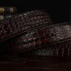 3 D crocodile famous brand Leather Belt Designer Men Belts Luxury smooth Buckle Belts For man