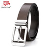Belts For Men Genuine Leather Strap High Quality Casual Belt Fashion Double Color Used Black Coffee