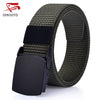 Fashion Solid Canvas Belts For Men Designer Strap Automatic Resin Buckle Army Military Tactics Belt High Quality