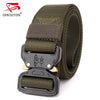 Military Equipment Tactical Belt Men Canvas Metal belts for Men Nylon Army Outdoor Belt Male Strap Waistband