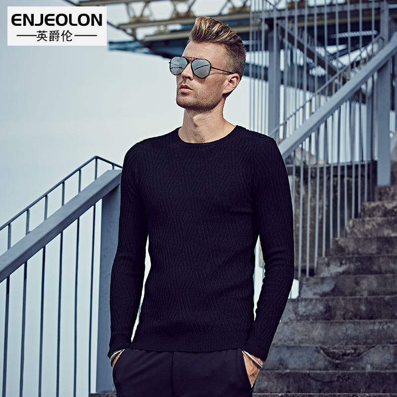 Fashion Knitted pullover Sweaters man O,neck black Sweater casual style  Man\u0027s Clothes