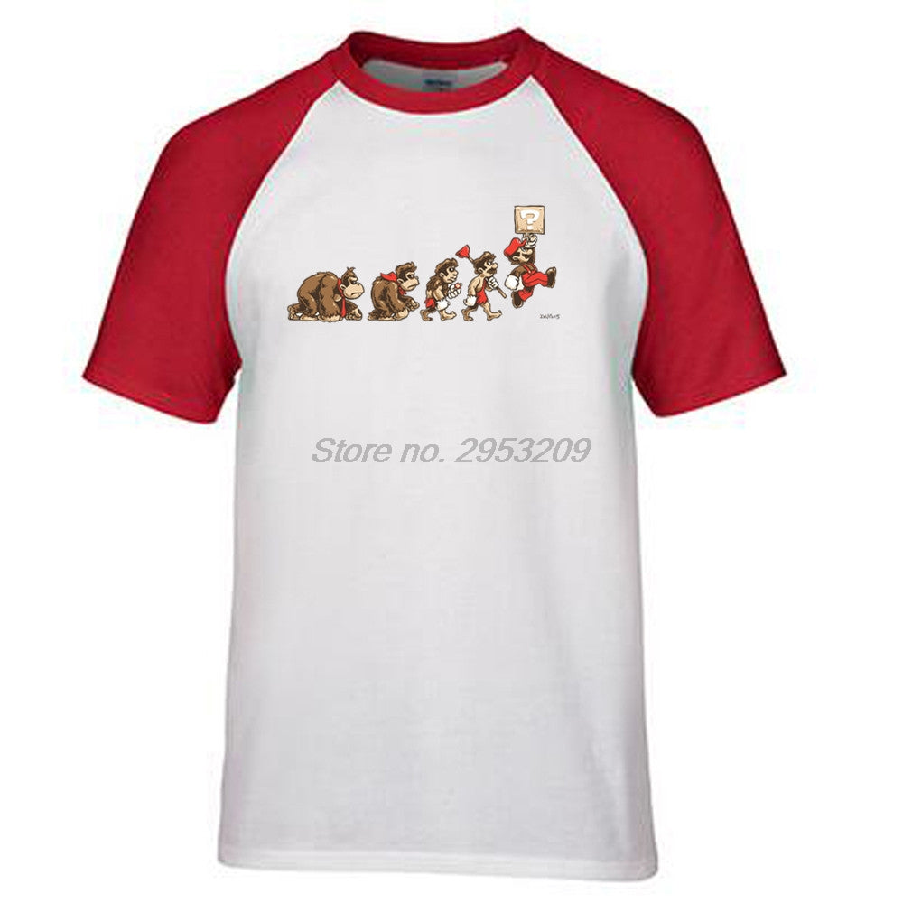 4b27ab81 Evolution Of Super Mario T Shirt Design Famous Gaming Top T-shirt Cool  Novelty Funny