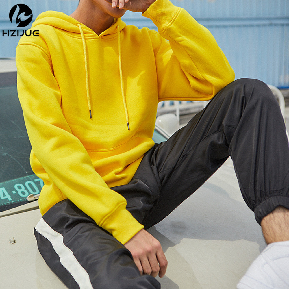 41ab6f9c280 Men s Thick Clothes Winter Sweatshirts Men Hip Hop Streetwear Solid Fleece  Hoody Man Clothing