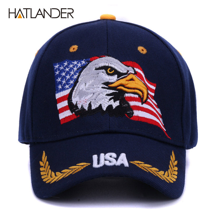e230cec15814f Summer baseball caps for men outdoor sun hat women embroidery Eagle USA  sports hats curved cap