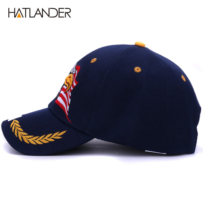 7fddfefa8 Summer baseball caps for men outdoor sun hat women embroidery Eagle USA  sports hats curved cap