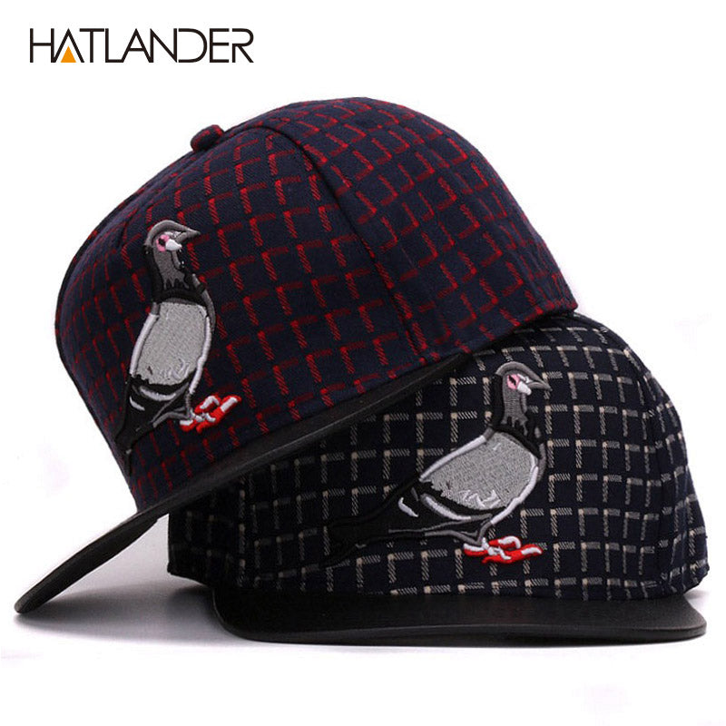 82399035424e3 3D Pigeon hip hop baseball caps for men women outdoor sport hats adjustable  casual flat brim