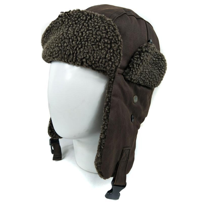 bb7637e4c62 Outdoor warm ear flap bomber hats for men women thicken skull snow winter  hat cap