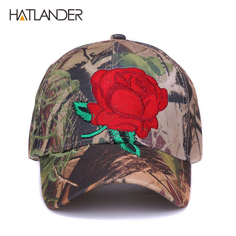 68b80a292cf18 Embroidery floral baseball caps for men women sun hats fitted adjustable  outdoor sports cap