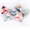 Cotton Groom Plaid Bow Tie For Groomsmen Wedding Formal Wear Business Men Cravat Fashion Casual Men Bowtie Bow Tie