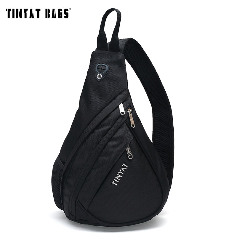 d6d716d19c Men Chest Bag Pack Casual Anti Theft Shoulder Bags Mans Crossbody Messenger  Bag Waterproof Polyester Sling Bag