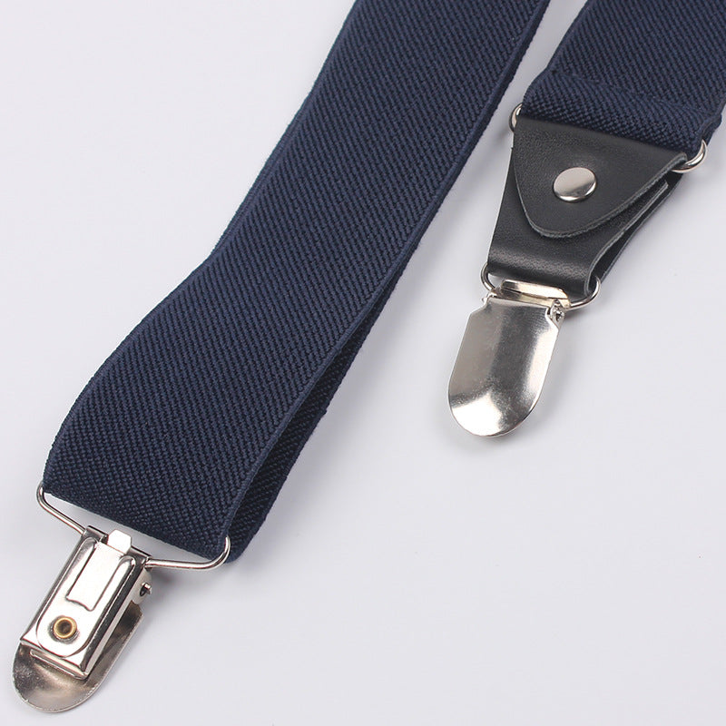 fbeff2627 Men s Business Casual Trousers Suspenders Adult Elastic Clip-on Suspenders  4 Clips Buckle Wedding Party