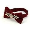 Bowtie For Mens Floral Leaves Bridegroom Wedding Gravata Slim Skinny Neck Ties Metal Collar Cravat