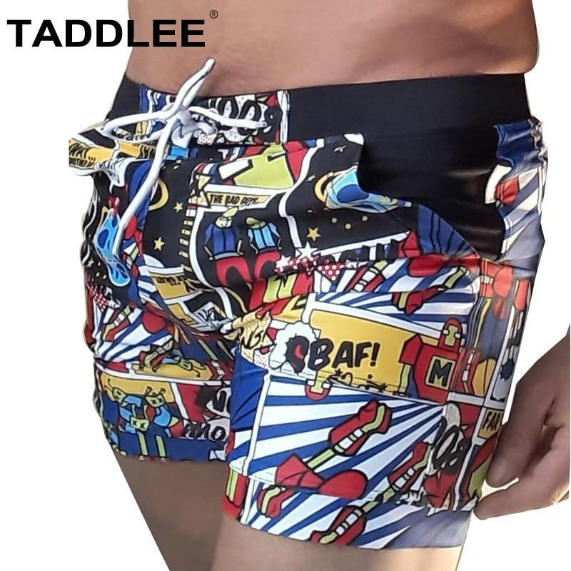 97a0966725 Taddlee Brand Men Swimwear Quick Dry Basic Traditional Swimsuits Long Board  Boxer Trunks Big Plus Size