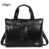 New Handbag Male Genuine Leather Men Business Briefcase Men Laptop Bag Zipper Big Capacity Man Shoulder Bag