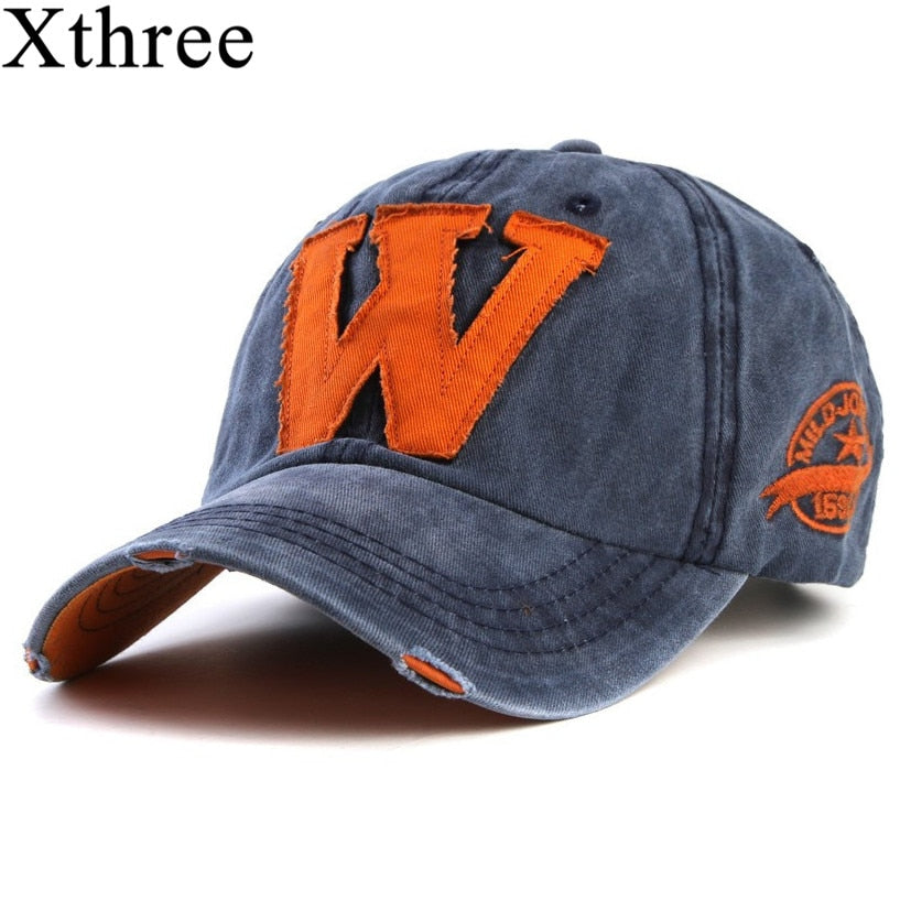 c243bcef0bc6e7 Xthree hot cotton embroidery letter W baseball cap snapback caps fitted  bone casquette hat for men