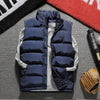 2018 Casual Vest Men Winter Sleeveless Jackets Male New Fashion Solid Waistcoat Men's Autumn Vests Warm Outwear Plus Size 1965