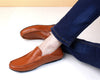 Casual Men loafers spring and autumn moccasins shoes genuine leather flats shoes