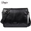 Fashion Men briefcase Genuine Leather Business Bag Male High Quality Men Messenger Bag Black Cover Shoulder Bag
