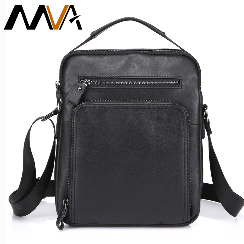 bb57c0f14519 Crossbody Bags Genuine Leather Shoulder Bags Messenger Bag Men Leather  Men s Bag Black iPad Flap Small