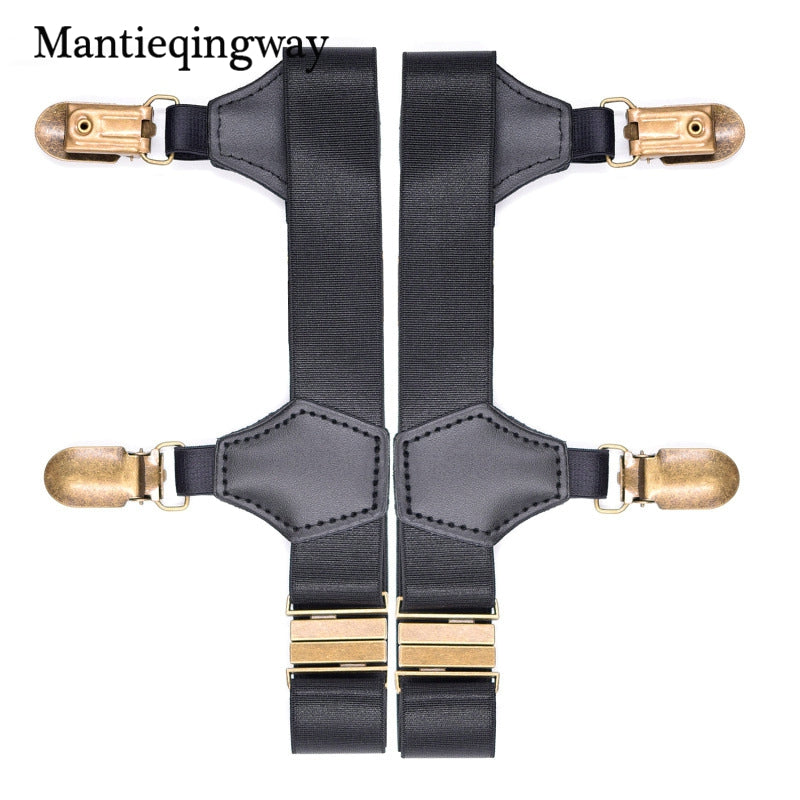 Apparel Accessories Good Mantieqingway Mens Shirt Belt Leg Tirantes Hombre Mens Stocking Suspensorio Holders Stays Crease-resistance Adjustable Garters Men's Accessories