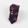 Cotton Tie Men Blue Print Necktie Skinny Bow Tie Fashion Casual Floral Neckties For Men Wedding Slim Gravatas