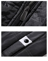 Casual Winter Coat Black Blue Colors Hooded Men Padded Jackets