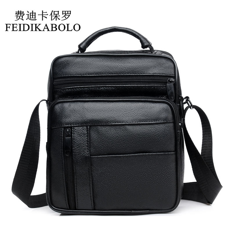 6459d0e4e2 Genuine Leather Shoulder Bags ipad Male Bag Fashion Men Messenger Bags  Promotional Small Crossbody Handbags Men