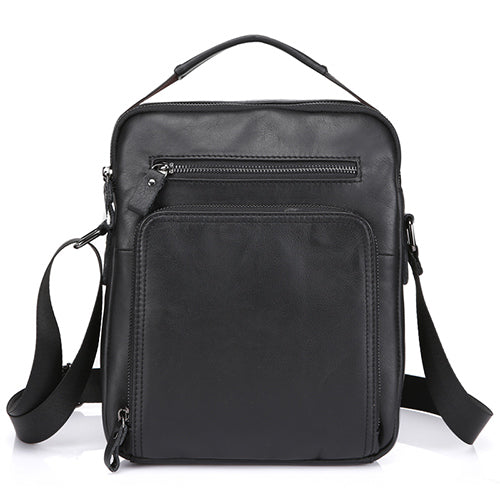 Crossbody Bags Genuine Leather Shoulder Bags Messenger Bag Men Leather  Men s Bag Black iPad Flap Small a5cd1709c8