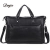 Fashion Cowhide Men Briefcase Genuine Leather Classics Black Handbag For Businessman Fashion Big Capacity