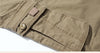 Casual Slim Cotton Men Cargo Pants Multi Pockets