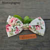 Vintage Men Cotton Floral Printed Bowtie For Men Bridegroom Wedding Gravata Slim Tuxedo Skinny Cravat