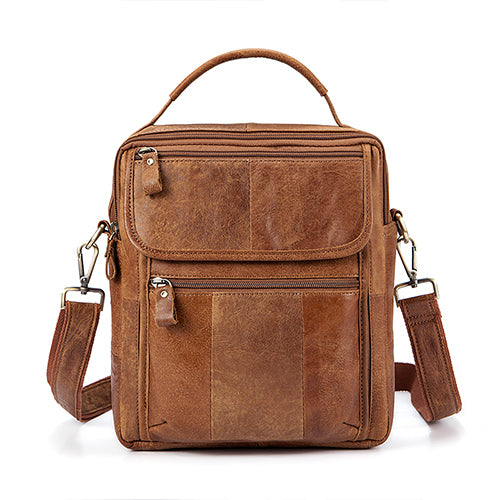 Genuine Leather Mens Bags Male Crossbody Bags Small Flap Casual Messenger  Bag Men s Shoulder Bag genuine b198cd6d1bfbc
