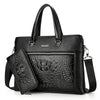 Luxury Black Handbags Men Messenger Bags PU Leather Man Bags Crocodile Male Men's Briefcase Man Casual Shoulder Bag