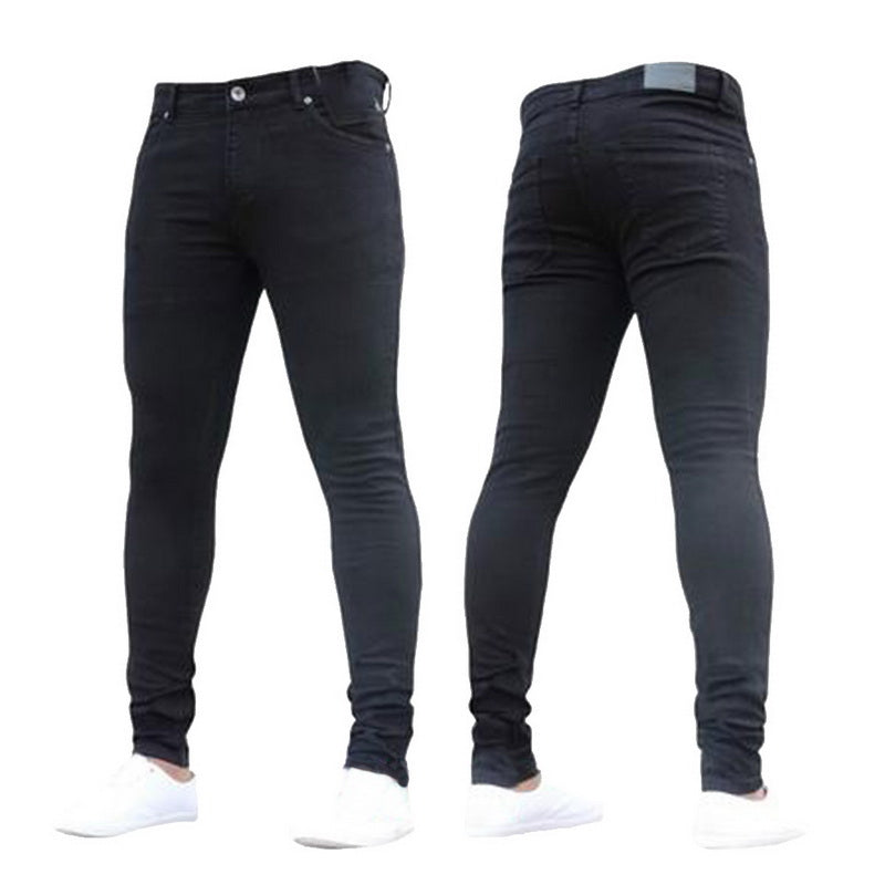 130d7599 NIBESSER 2018 New Fashion Men's Casual Stretch Skinny Jeans Trousers Tight  Pants Solid Color Jeans Men