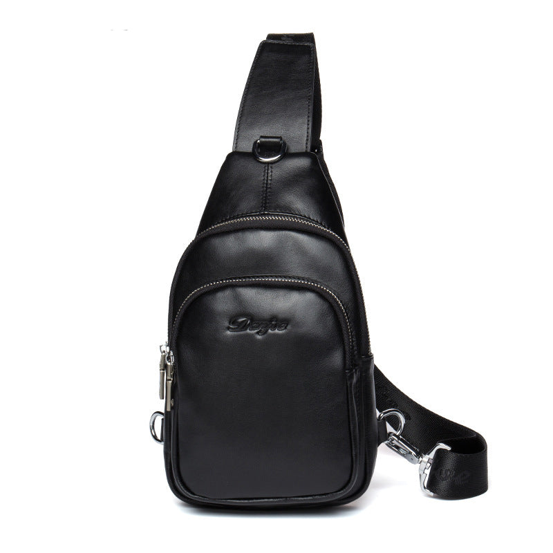 25776fe275 Men Bag Genuine Leather Chest Bag Male Style Messenger Bag Man Natural Leather  Crossbody Bag Leisure