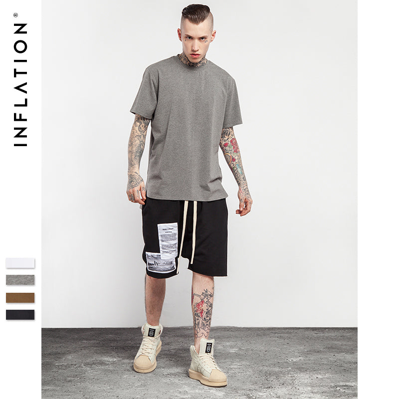 2b6757a87 Summer New Style Men S Solid Men S Extended Tees Streetwear Mens