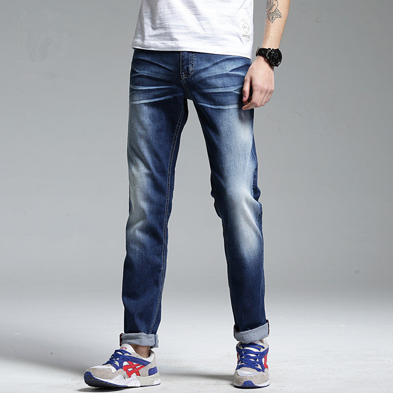 Mens Luxury Designer Clothing | Men Full Length Solid Skinny Designer Clothing Denim Pants Men