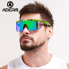 Summer New Sport eyewear Men Goggle Oversized Party Sunglasses flat top Square Sunglasses Retro Glasses 2 lens