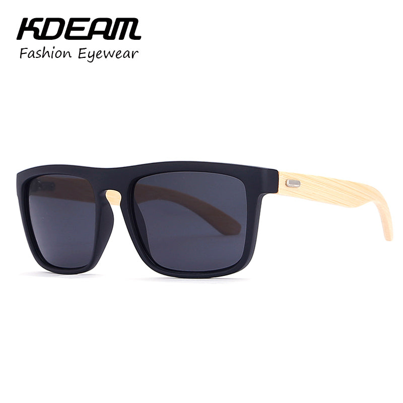 d1b080e31 Bamboo Sunglasses Solid Color Men Leisure Glasses UV400 Lens protection  Women Goggle With case