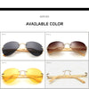 Classical Bamboo Sunglasses Men Fashion Handmade Eyewear Sun Glasses UV400 Yellow Night Vision With Original case